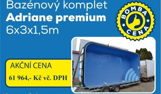 Akce na plastový bazén 3x6m s hloubkou 1,5m do 31.7.2015