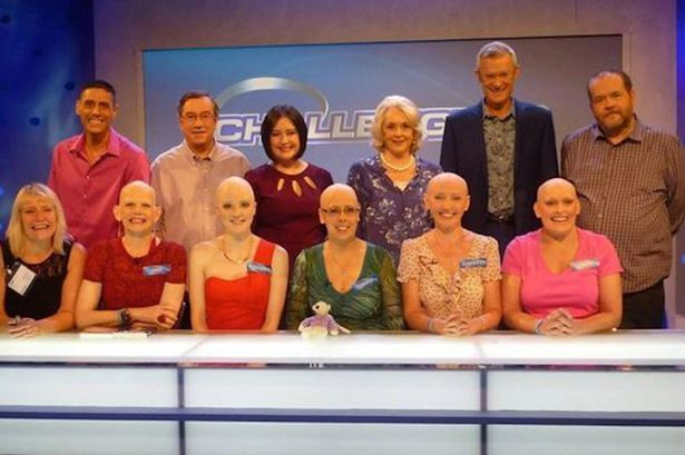 Proud #bald #women to battle TV's #Eggheads #quiz masters to raise awareness of #alopecia. Marie Jenks and her pals will face televisions finest quiz team on Thursday completely bald and proud in a bid to raise awareness of the auto-immune condition which causes sufferers to lose part of or all of their hair. #BRILLIANT