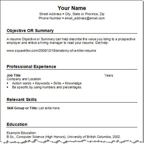 find this pin and more on resume templates - Simple Resume Template Free Download