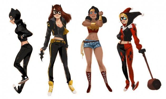 DC Heroines by Mingjue Helen Chen