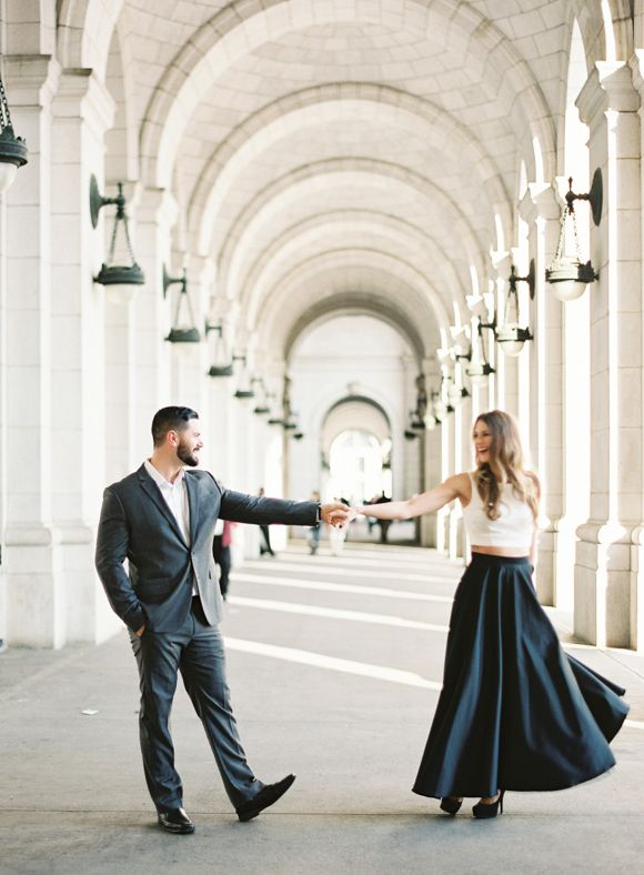 Stylish and Chic Engagement Shoot in Washington DC