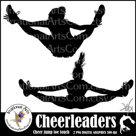 INSTANT DOWNLOAD Cheerleader Jump Toe Touch by IrrationalArts, $1.95