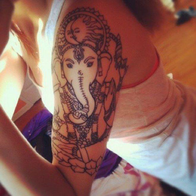 Aliexpress Com Buy India Elephant God Tattoos Cool: 25+ Melhores Ideias De Tatuagem Ganesha No Pinterest