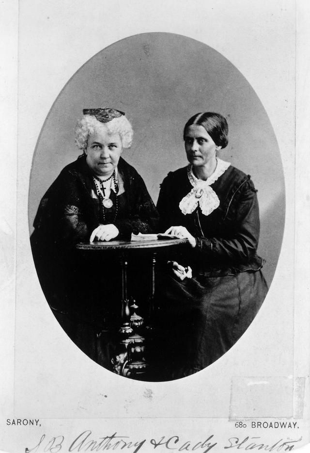 Susan Anthony and Elizabeth Stanton are two of the bravest women in this country! Why can't women have the same rights as men? Give us the vote!