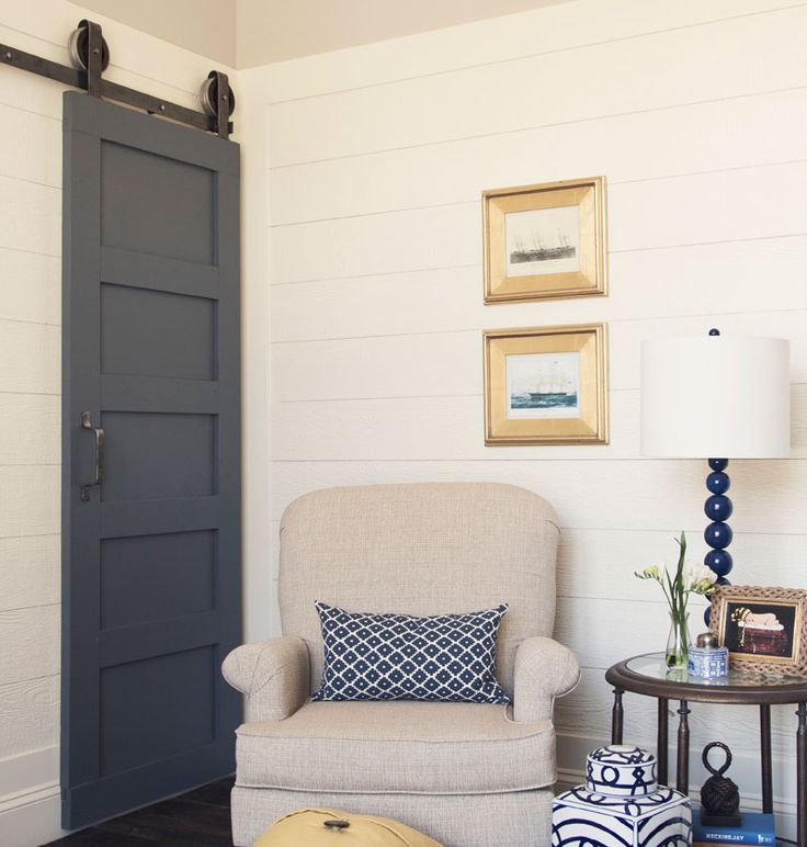 For An Old Style Door With A Contemporary Twist, The 5 Panel Barn Door Is