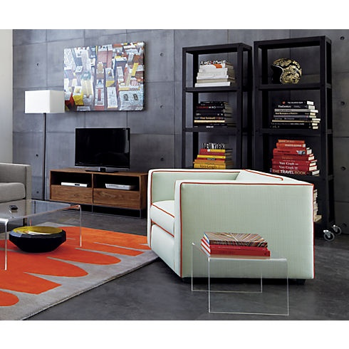 Go Cart Carbon Five Shelf Bookcase In All Office | CB2