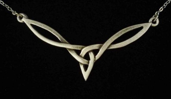 Celtic Knot Necklace made with fine Pewter by treasurecast on Etsy, $11.98
