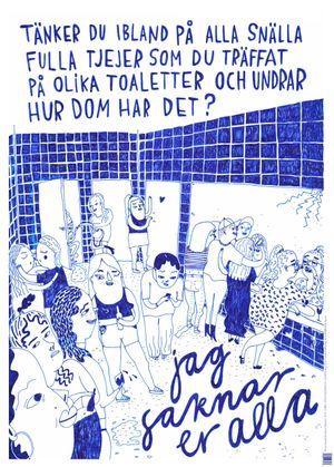 Affisch/Tjejer på toaletter av Hanna Stenman och Lisa Ewald • Kolik förlag •…