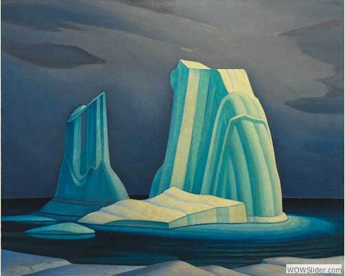 Painting Canada: Tom Thomson and the Group of Seven Lawren Harris (1885-1970), Icebergs, Davis Strait, 1930, Oil on canvas, 121.9 x 152.4 cm, Gift of Mr. and Mrs. H. Spencer Clark, McMichael Canadian Art Collection
