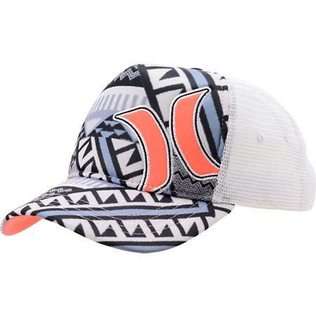 ༻⚜༺ ❤️ ༻⚜༺ Hurley Girls Mayan White Snapback Trucker Hat ༻⚜༺ ❤️ ༻⚜༺
