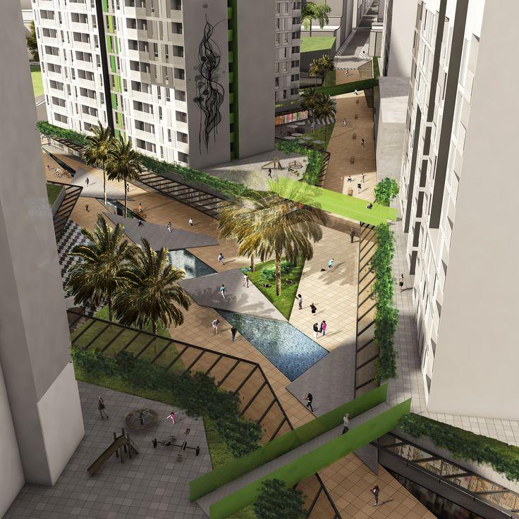 Praça conjunto #habitacional #jonasbirgerarquitetura