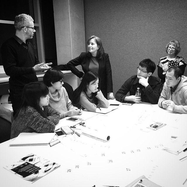 We were privileged to have Nathalie de Vries from @mvrdv in our design studio this week for a master planning intensive workshop. #mvrdv #tgif #friyay #studio #designstudio #unimelb #msd @msdsocial #buroarchitects #architectureschool #design #nathaliedevries #masterplanning #studioworkshop #coexist15 #architects