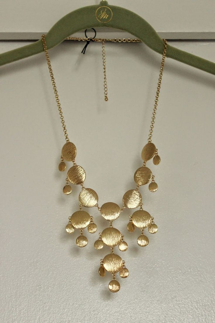 Pixley Leighton Metal Bauble Necklace in gold