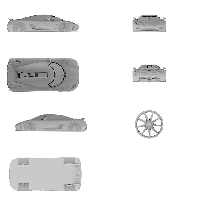 4k Ultra HD high resolution blueprint of Koenigsegg | Agera