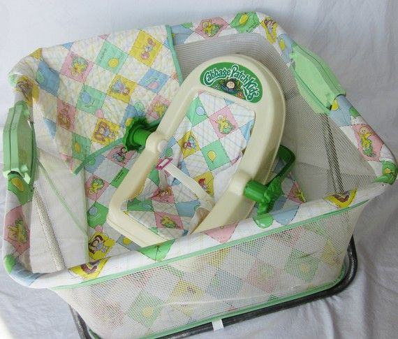 cabbage patch playpen and carrier - I so remember getting this for Christmas one year.