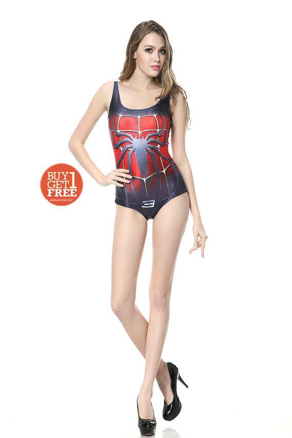 The Amazing Spiderman Swimsuit  -NOT Spiderman shirt Spiderman mask Spiderman dress Spiderman shoe Spiderman poster 2 bat man superhero Y115 on Etsy, $22.20 CAD