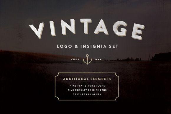 Vintage Logo & Insignia Starter Kit by Hustle Supply Co. on @creativemarket