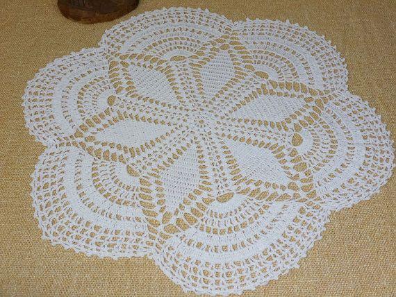 Vintage, Handmade ,Crochet Lace Doily,Crochet Lace Napkin, Lace Doily, Vintage Decor,Vintage doily