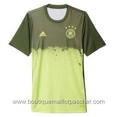 Acheter Maillot de foot pas cher Pre-match Allemagne EURO 2016 Vert