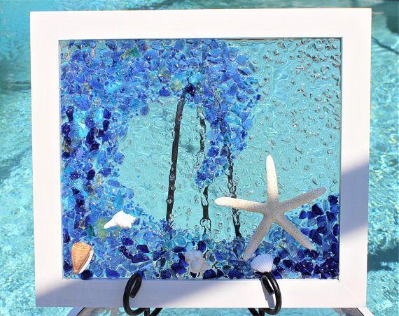 Sea Glass Art Framed Coastal Living Wall Art Beach Wall Art Beach House Wall Art Ocean Wave Art Coastal Decor Beach Wave Art 5 Coastal Wall Art Beach Wall Art Wave Art