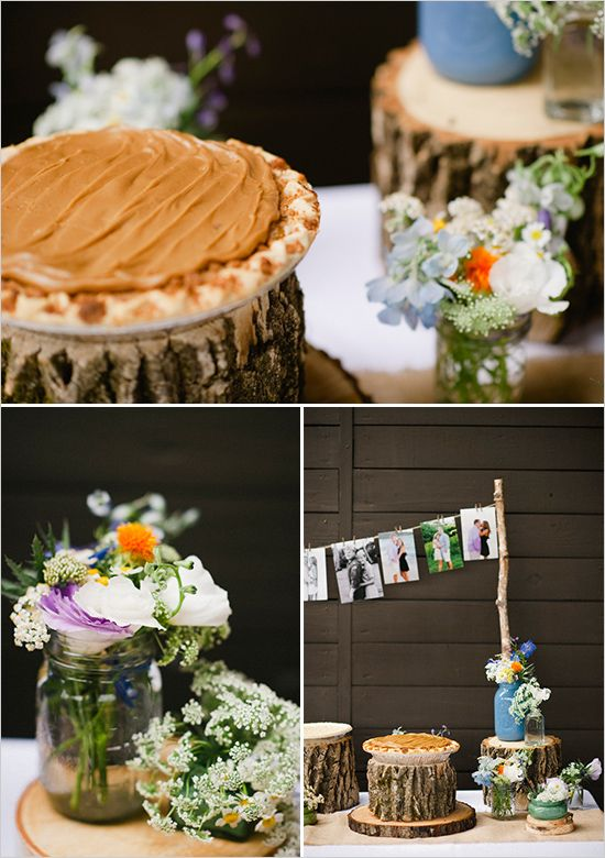 rustic wedding desserts