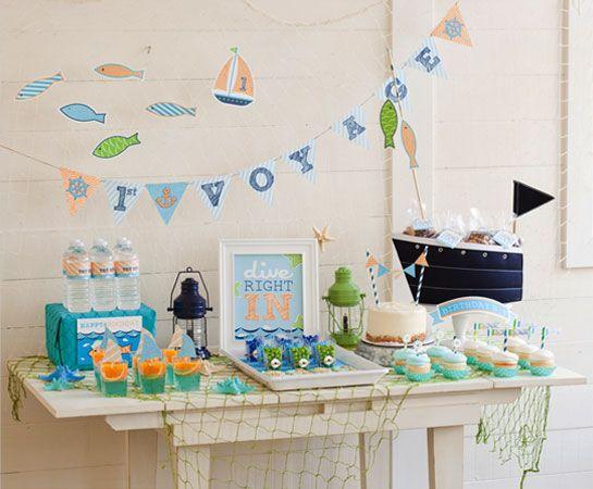 Little Sailor 1st Birthday Party