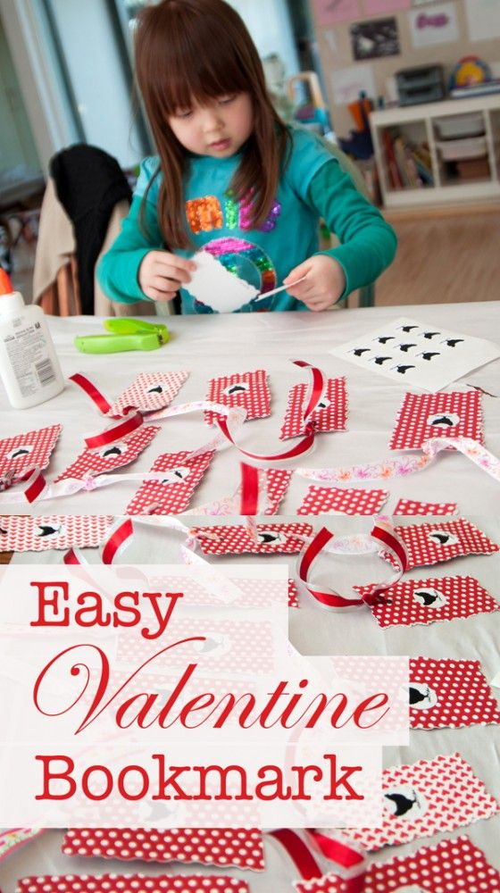 Easy valentine bookmarks bookmarks for Easy bookmark ideas