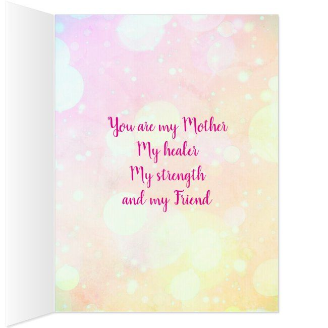 Mother S Day Blessing Greeting Card Zazzle Com Greeting Cards Cards Mothers Day