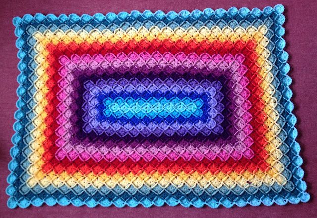@ Flowers in the Window: Colourful oblong wool-eater blanket from free pattern by Sarah London: http://sarahlondon.files.wordpress.com/2012/01/oblong-wool-eater-blanket.pdf