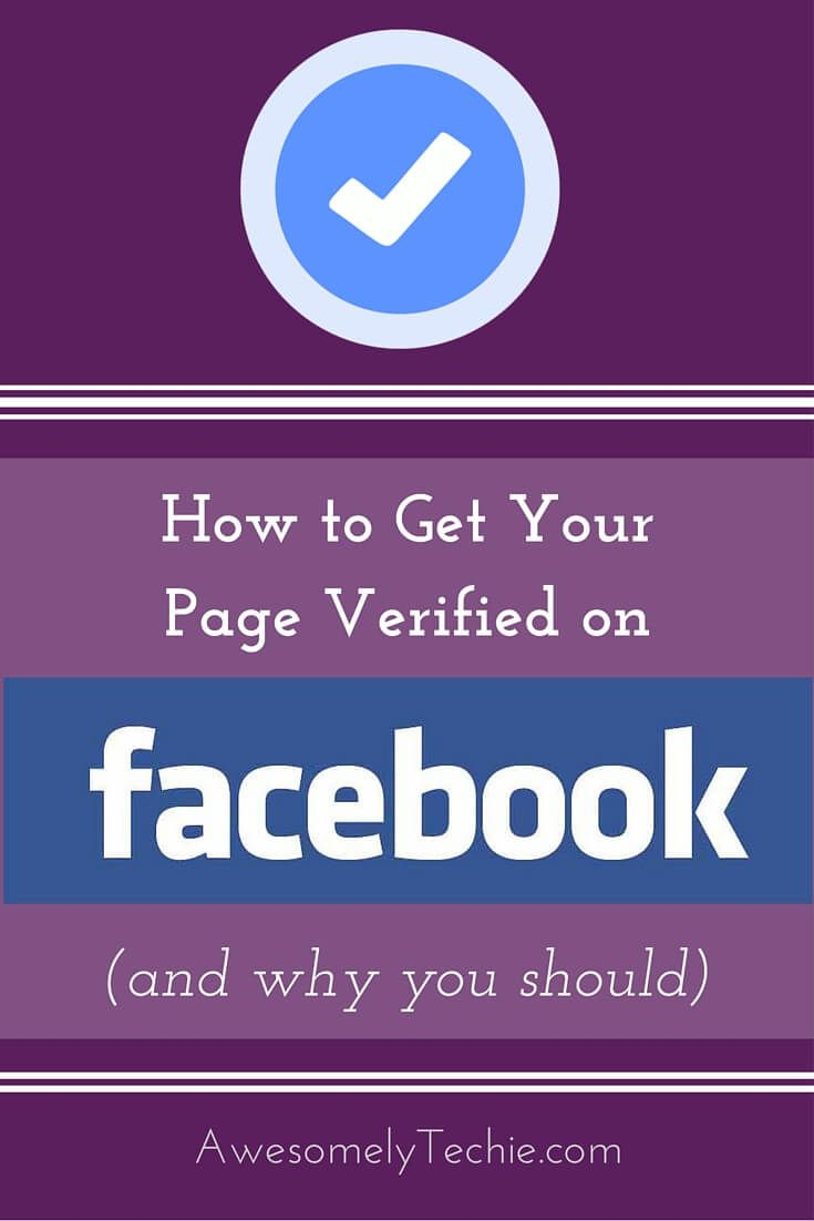 How to Get Your Facebook Page Verified (And Why You Should) | Awesomely Techie