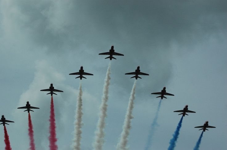 Red Arrows at Good Wood Festival Of Speed 2014.  It was amazing how close they got!