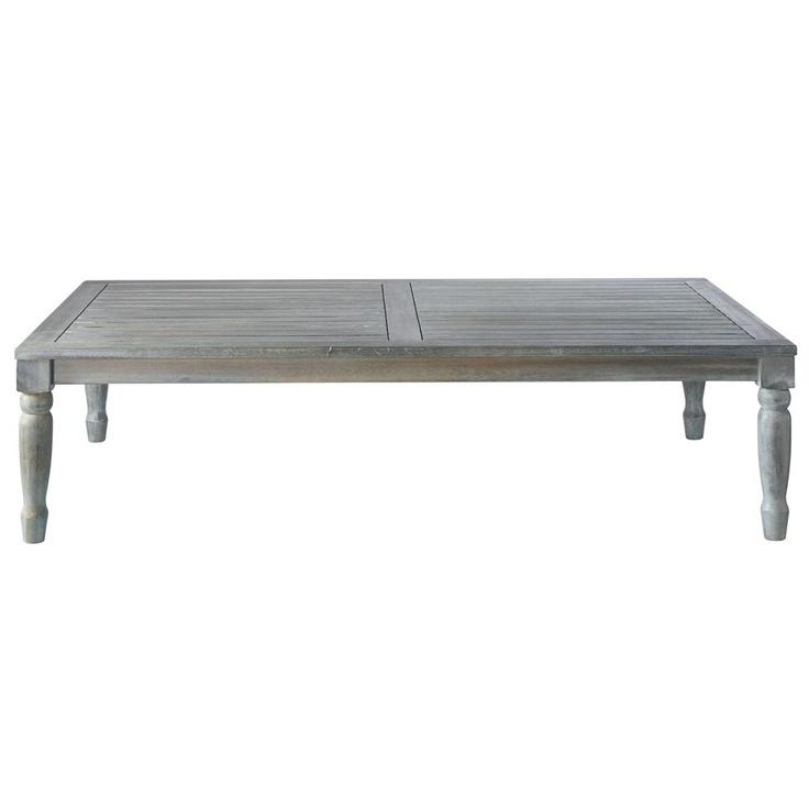 Table Basse Opium Maison Du Monde #15: Table Basse De Jardin En Acacia Grise L 140 Cm