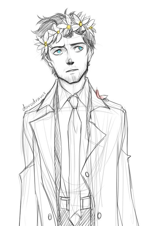 Cas with a flower crown by the art of doro