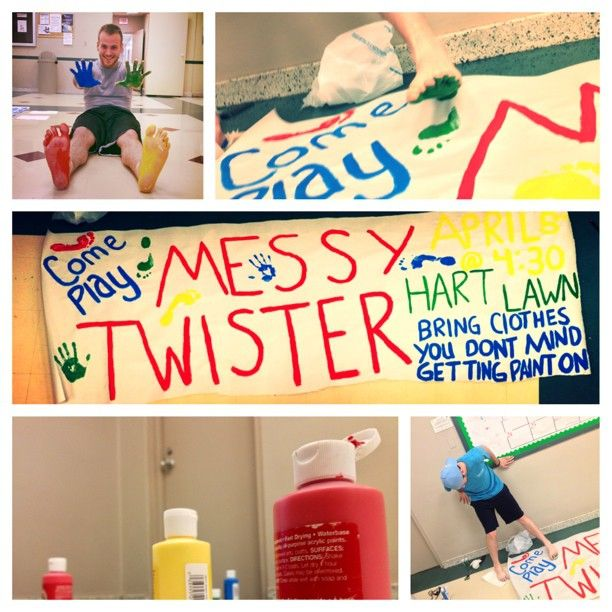 derekmatt:  #picstitch #reslife messy twister tomorrow at 4:30!!!!  Awesome program!