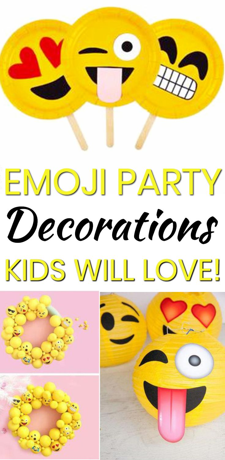Emoji Party Decorations Find The Best Emoji Decor Ideas For Your Next Birthday Or Celebration Find A Emoji Birthday Party Emoji Party Emoji Party Decorations