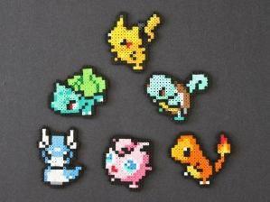 Pokemon perler bead magnets by clara
