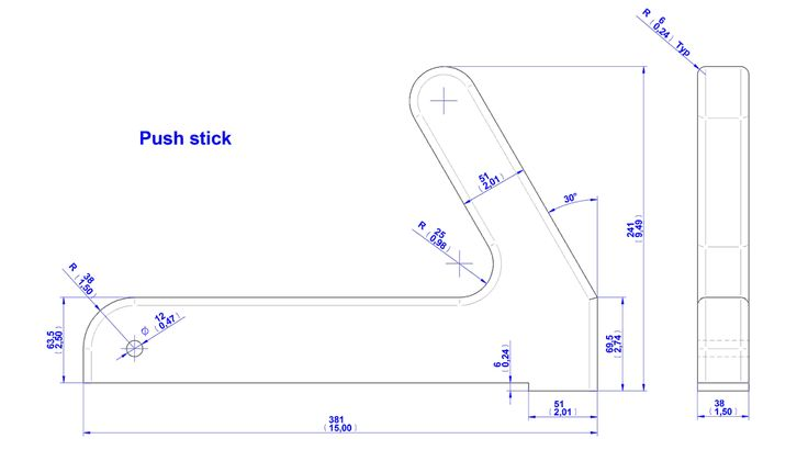 Push stick and push block plans   Jig, clamp and fixture plans