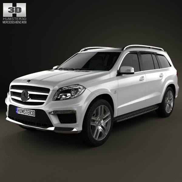 mercedes benz gl class x166 amg 2013 3d model - Black Mercedes Benz Suv 2013