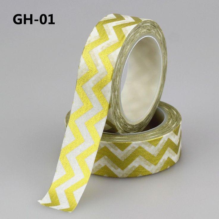 Aliexpress.com: Comprar NUEVA 1X 15mm * 10 m Cinta chevron Lámina de Oro Dorado…