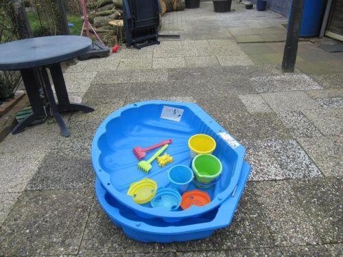 Verkauft wird unser Sandkasten in Muschelform mit neuen Spielsand und Deckel.Der Sandkasten sowie...,Sandkasten Muschel mit sauberen Spielsand nicht benutzt in Niedersachsen - Südbrookmerland