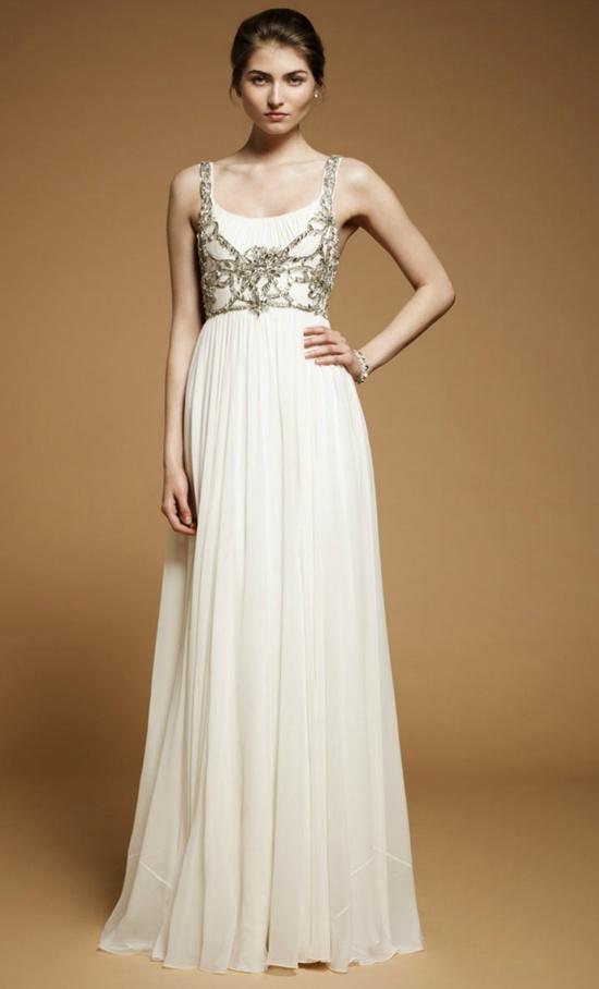 Simple and elegant, Jenny Packham Ormlie dress, Spring Summer 2012 Bridal