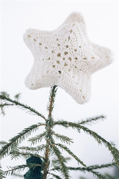 Tema 40: 23 Juletrestjerne #jul #strikk #christmas #knit