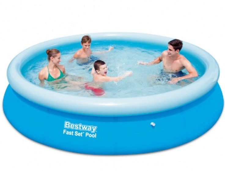 Fast Set Round Inflatable Swimming Pool 366cm x 76cm Family Swimming