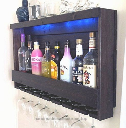 Wine Rack – Quick Ship – RUSTIC Liquor Cabinet – Dark BROWN Espresso Finish – with Blue LED Recessed Lights  Check It Out Now     $199.00    This item is ready to ship quickly. You are going to Love your new rustic Wine Rack – Liquor Cabinet! It is DARK BRO ..  http://www.handmadeaccessories.top/2017/03/15/wine-rack-quick-ship-rustic-liquor-cabinet-dark-brown-espresso-finish-with-blue-led-recessed-lights/