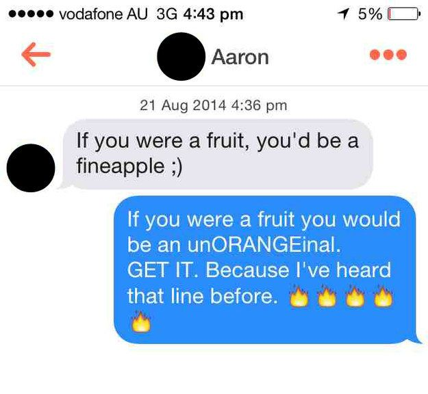 This surprisingly similar fruit-based situation. | 19 Times Tinder Users Got Brutally Shot Down