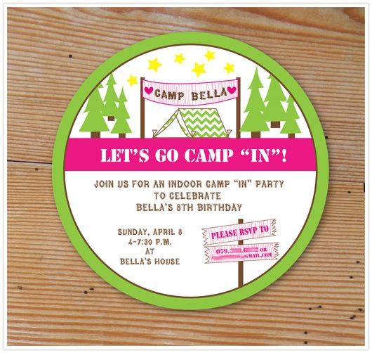 Paper and Party Love: Sneak Peek :: Indoor Camping Party