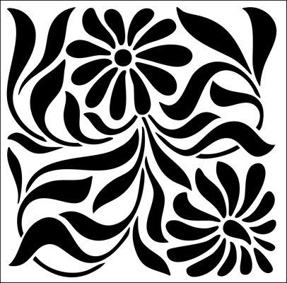 Tile No 23 stencil from The Stencil Library ART NOUVEAU range. Buy stencils online. Stencil code DE226.