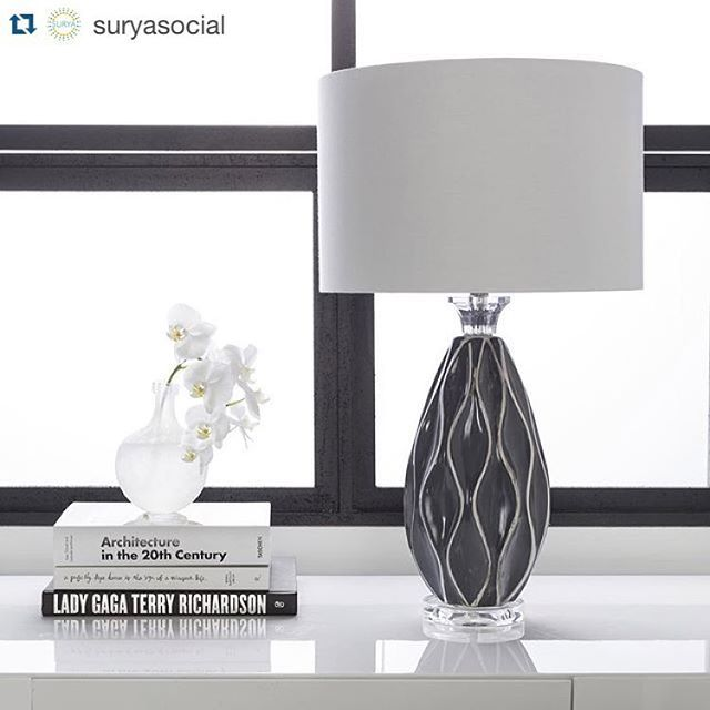 @suryasocial with @cactus_gallery_moscow ••••••••• Sleek and #contemporary new #lighting from the Bethany collection at Surya (BTH-420). #tablelamp #accessories #homedecor #ceramic #design #contemporary #interiors #cactusgallery #cactus_gallery_moscow