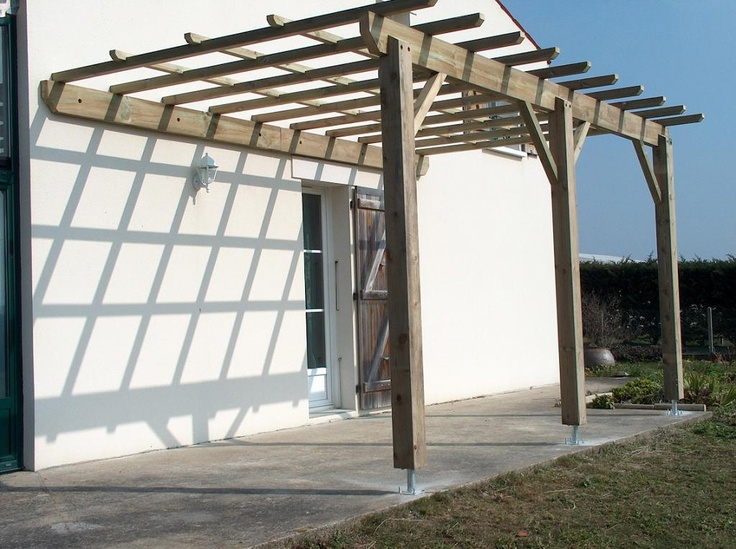 Pergola Bois Maison Inspi Pinterest Pergolas And Construction