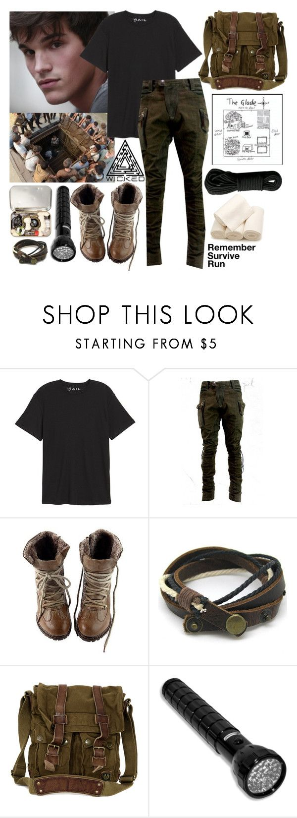 """Remember, Survive, Run"" by slytherin-for-life ❤ liked on Polyvore featuring DUO, Public Opinion, Belstaff, Rothco, men's fashion, menswear, MazeRunner, DeathCure, ScorchTrials and fevercode"